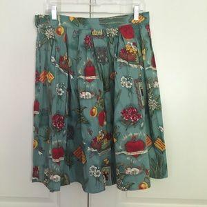 Dresses & Skirts - Frida Kahlo flared swing retro skirt—medium